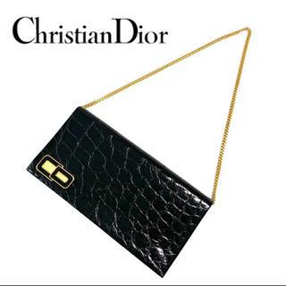 クリスチャンディオール(Christian Dior)のChristian Dior クリスチャンディオール クロコ チェーン バッグ(トートバッグ)