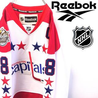リーボック(Reebok)の古着 美品 Reebok リーボック ホッケーシャツ NHL キャピタルズ(Tシャツ/カットソー(七分/長袖))