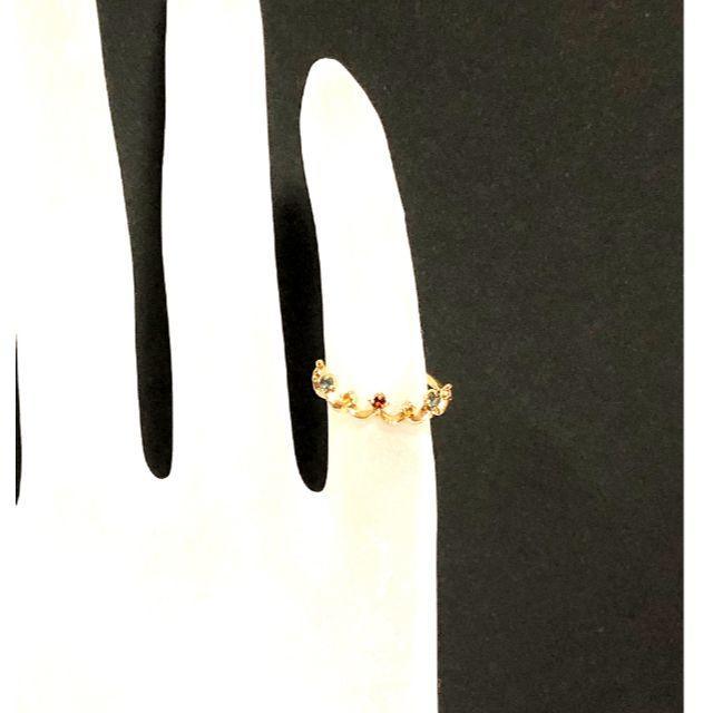 NOJESS(ノジェス)のノジェス NOJESS K10YG マルチ ストーン 王冠 リング レディースのアクセサリー(リング(指輪))の商品写真
