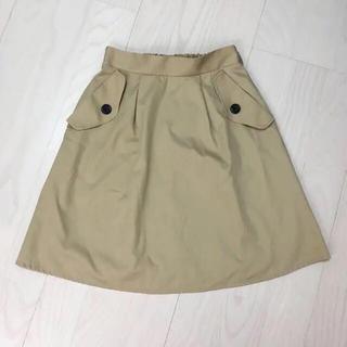 シマムラ(しまむら)のミラクルクローゼット スカート ベージュ Lサイズ(ひざ丈スカート)