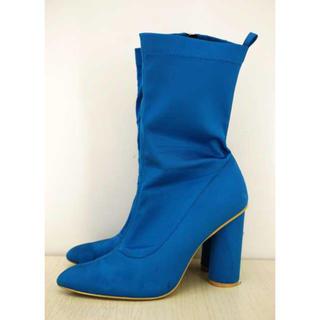 イエローブーツ(Yellow boots)のYELLO/ブルーショートブーツ(ブーツ)