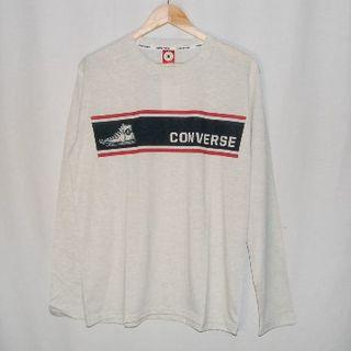 コンバース(CONVERSE)の新品!コンバース  バッシュ柄プリントロンT LLサイズ(Tシャツ/カットソー(七分/長袖))