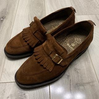 ビームス(BEAMS)の美品 定価5万円 WH ローファー ブラウン 7.5 革靴 ダブルエイチ 靴(ドレス/ビジネス)