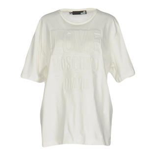 モスキーノ(MOSCHINO)のラブモスキーノ♡Tシャツ白ワンピ(Tシャツ(半袖/袖なし))