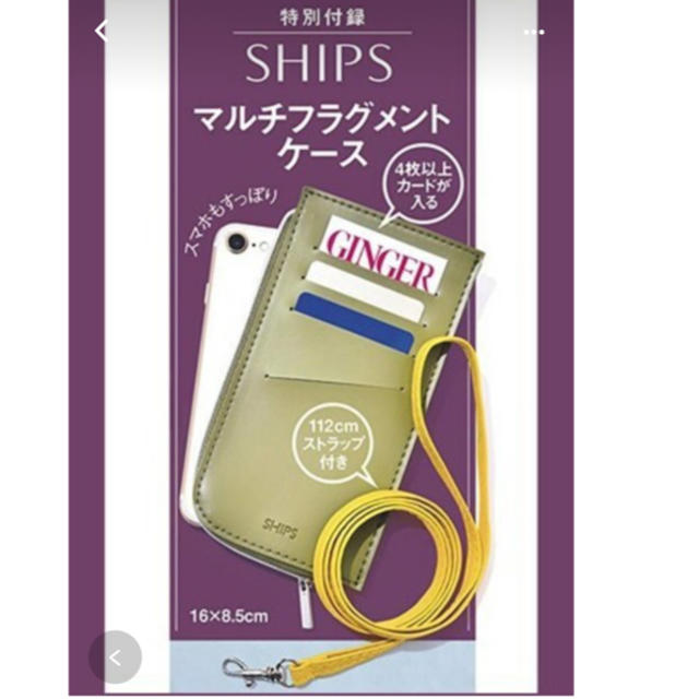 SHIPS(シップス)のSHIPS ✨カード4枚も入るケース レディースのファッション小物(名刺入れ/定期入れ)の商品写真