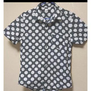 ジーユー(GU)のGU ドットシャツ(シャツ/ブラウス(半袖/袖なし))