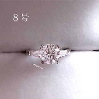 ハリーウィンストン(HARRY WINSTON)のSONAダイヤモンド  最高級合成ダイヤモンドリング  2.0ct  8号(リング(指輪))