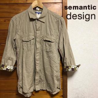 セマンティックデザイン(semantic design)のsemantic design 七分袖 花柄 シャツ(シャツ)