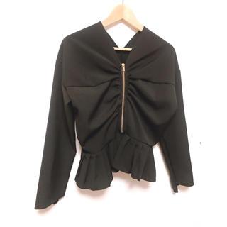 リリーブラウン(Lily Brown)の値下げしました♡裾フリルジップアップアウター(ブルゾン)