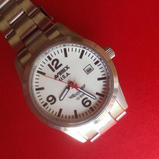 アヴィレックス(AVIREX)のアビレックス AVIREX 腕時計 メタル ホワイト メンズ AX-010M(腕時計(アナログ))