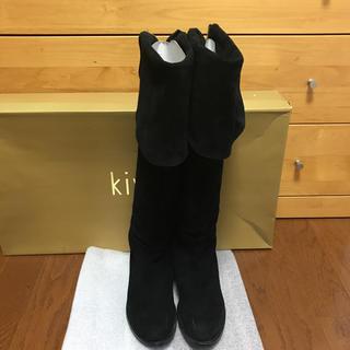 スピックアンドスパン(Spick and Span)のスピックアンドスパン購入 kiwi ニーハイブーツ 黒36(ブーツ)