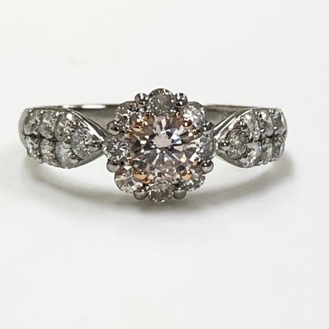 PT ピンクダイヤモンドリング レディースのアクセサリー(リング(指輪))の商品写真