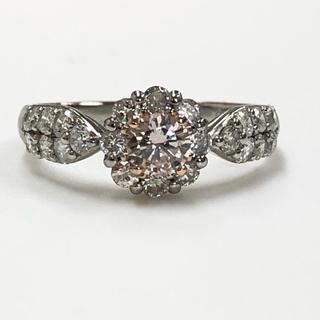 PT ピンクダイヤモンドリング(リング(指輪))