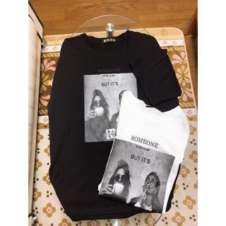 アンズ(ANZU)のビック Tシャツ(白)(Tシャツ(半袖/袖なし))