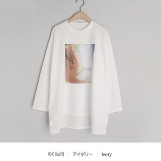 ディーホリック(dholic)のdholic プリントロングTシャツ(Tシャツ/カットソー(七分/長袖))