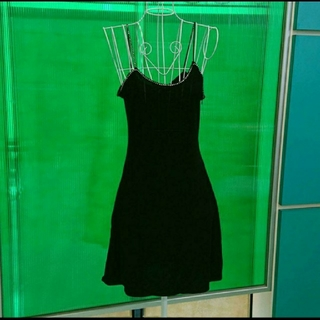 クーカイ(KOOKAI)の[美品] KOOKAI クーカイ ラインストーンの黒の素敵ドレス[ワンピース](ミニワンピース)