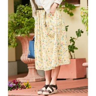 エニィスィス(anySiS)の*新品*anysis ベルト付フラワープリントスカート(ロングスカート)