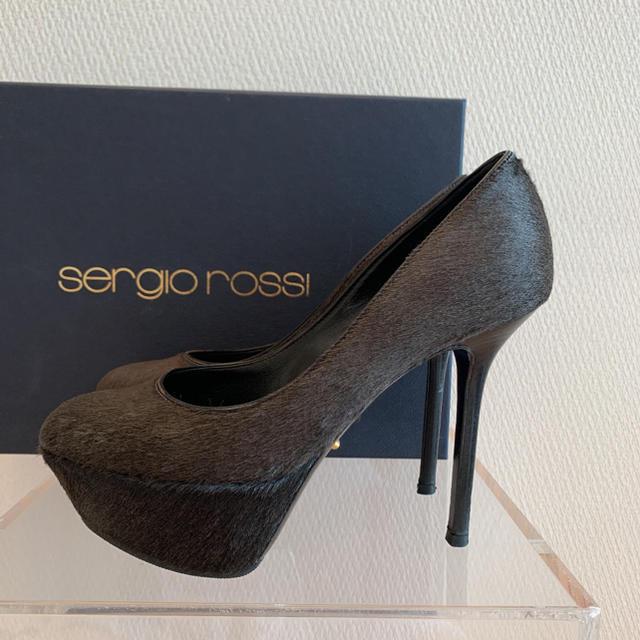Sergio Rossi(セルジオロッシ)の値下!セルジオロッシ パンプス ハラコ レディースの靴/シューズ(ハイヒール/パンプス)の商品写真