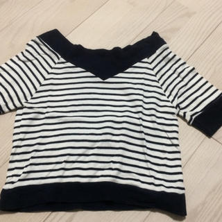 ミスティウーマン(mysty woman)のリブニット(Tシャツ(半袖/袖なし))