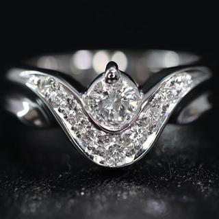 Pt900 プラチナ デザイン ダイヤモンド リング(リング(指輪))