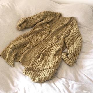 ミラオーウェン(Mila Owen)のざっくり編み ニットカーディガン レプシム(カーディガン)