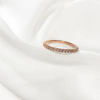 エムドゥー(M.deux)のa4 キュービックジルコニア シンプル ハーフエタニティ レイヤードリング(リング(指輪))