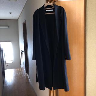 ユニクロ(UNIQLO)のルメール  ☆ ウールカシミヤローブコート   M   ネイビー    美品(ガウンコート)