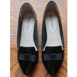 オリエンタルトラフィック(ORiental TRaffic)の【aimama様専用】ORientalTRafficレインパンプス黒~21㎝(ローファー/革靴)