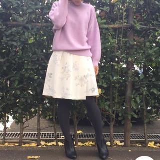 マーキュリーデュオ(MERCURYDUO)の【MERCURYDUO】水彩フラワーヘムラップ風スカート(ミニスカート)