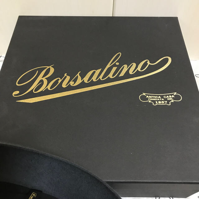 Borsalino(ボルサリーノ)のボルサリーノ ラビットハット 美品♬ グレー 57サイズ メンズの帽子(ハット)の商品写真