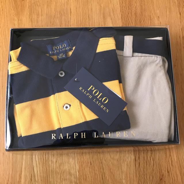 POLO RALPH LAUREN(ポロラルフローレン)のポロ ベビーポロシャツとチノハーフパンツ キッズ/ベビー/マタニティのベビー服(~85cm)(シャツ/カットソー)の商品写真
