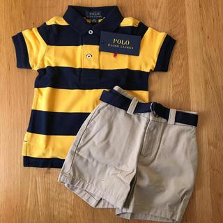 POLO RALPH LAUREN - ポロ ベビーポロシャツとチノハーフパンツ