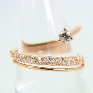 K18ピンクゴールド ダイヤモンド リング  12.5号 [f77-4](リング(指輪))
