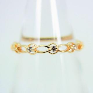 アガット(agete)のアガット K10 ダイヤモンド リング 3号 [f77-5] (リング(指輪))