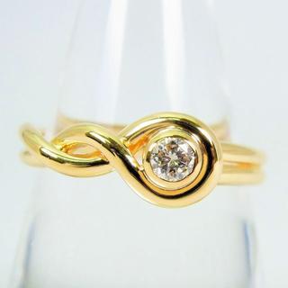 K18イエローゴールド ダイヤモンド リング 19号[f77-6](リング(指輪))