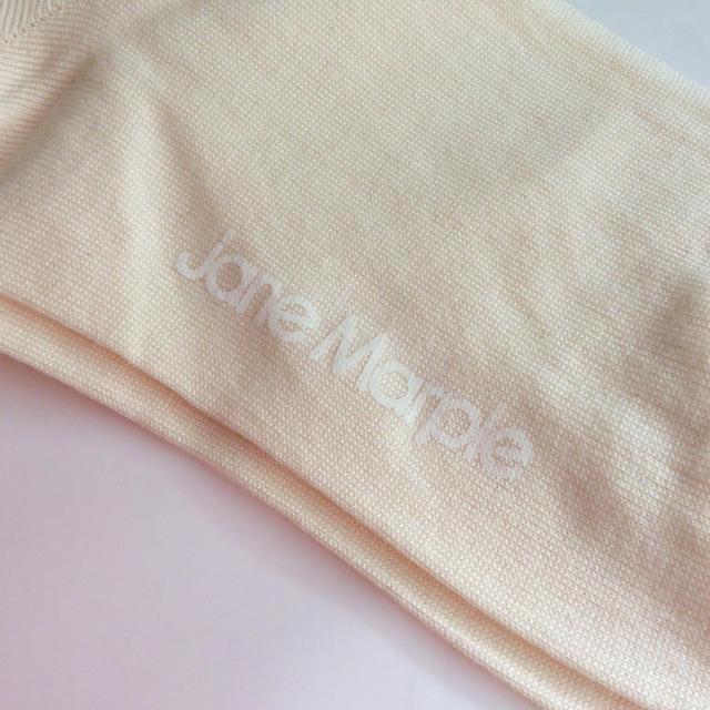JaneMarple(ジェーンマープル)の新品 Jane Marple ロゴ × リボン オーバーニーソックス レディースのレッグウェア(ソックス)の商品写真