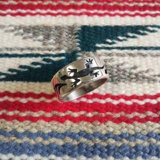 インディアン(Indian)のインディアンジュエリー ホピ族 トカゲ リザード シルバーリング 指輪(リング(指輪))