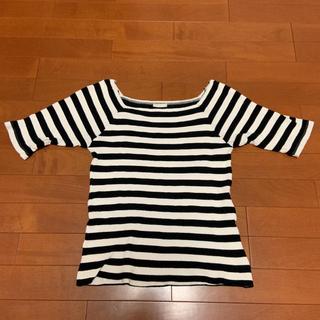 ジーユー(GU)のGU ジーユー ボーダースクエアT L(Tシャツ(長袖/七分))