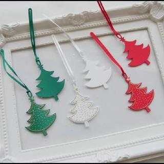 クリスマス☆ クリスマスツリー サテンタグ 3色セット(その他)