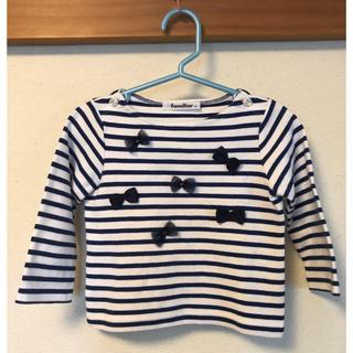 ファミリア(familiar)のファミリア リボンカットソー 90(Tシャツ/カットソー)