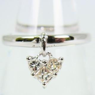 K18WG ダイヤモンド リング 9号[g78-1](リング(指輪))