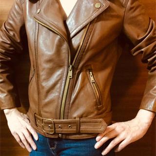マッシモデュッティ(Massimo Dutti)のライダースジャケット 革 マッシモ デュッテイ(ライダースジャケット)
