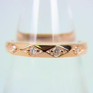 アガット(agete)のアガット K10PG ダイヤモンド リング 7号 [g78-8](リング(指輪))