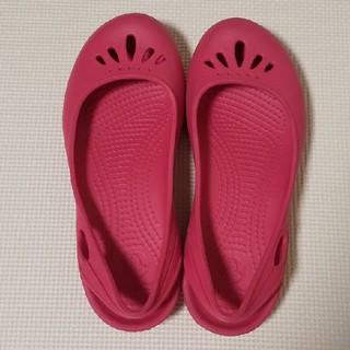 クロックス(crocs)のcrocsクロックス ピンク w6 レインシューズ パンプス (ハイヒール/パンプス)