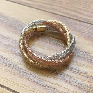 K18 トリニティリングリング 指輪 1.1g(91012007)(リング(指輪))