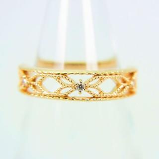 アガット(agete)のアガット K10 ダイヤモンド リング 3号 [g78-11] (リング(指輪))
