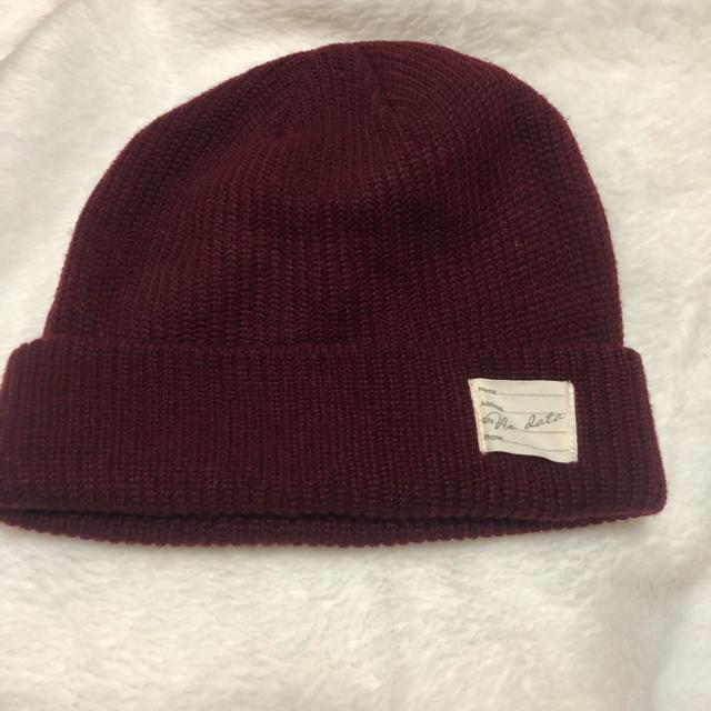 BROWNY(ブラウニー)のWEGO BROWNYニット帽 レディースの帽子(ニット帽/ビーニー)の商品写真