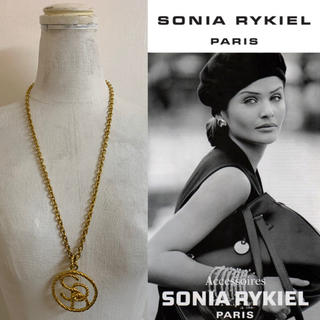 ソニアリキエル(SONIA RYKIEL)のSONIA RYKIEL PARIS VINTAGE SRロゴ ロングネックレス(ネックレス)