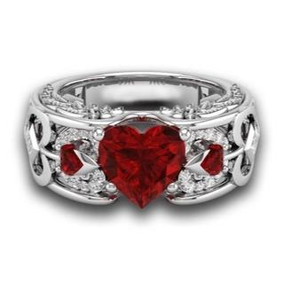 【送料無料】Wedding Engagement Heart Ring (リング(指輪))