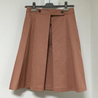 アーペーセー(A.P.C)のAPC ピンクプリーツスカート(ひざ丈スカート)